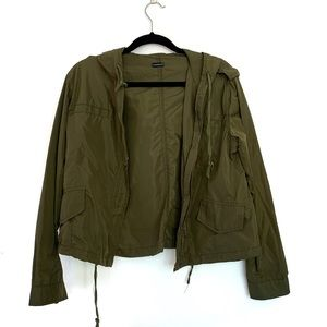 Brandy Melville olive green jacket with hood